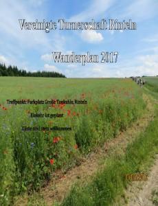 Wanderplan 2017