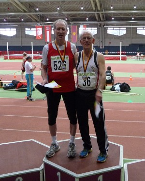 Horst Schäfer ist schnellster Hürdensprinter Deutschlands in der Altersklasse M75